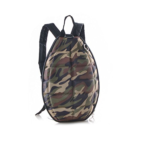 New Fashion Women Men Turtle Shell Style Backpack Hand Grenade Bomb Shoulder Bag Camouflage