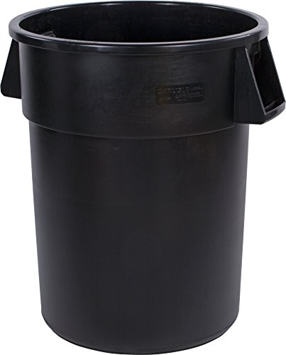44 Gallon Trash Container - Carlisle 34105503 Bronco Round Waste Container Only, 55 Gallon, Black (Pack of 2)
