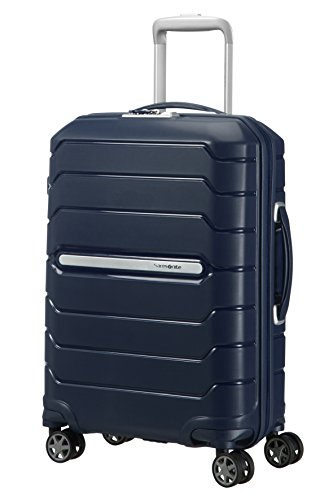 SAMSONITE Flux - Spinner 55/20 Expandable Hand Luggage, 55 cm, 44 liters, Blue (Navy Blue)