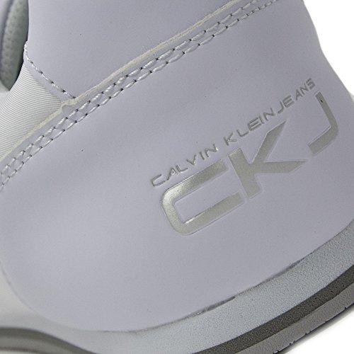 Pour Jeans Baskets Klein Weiß Calvin Homme TF8qz