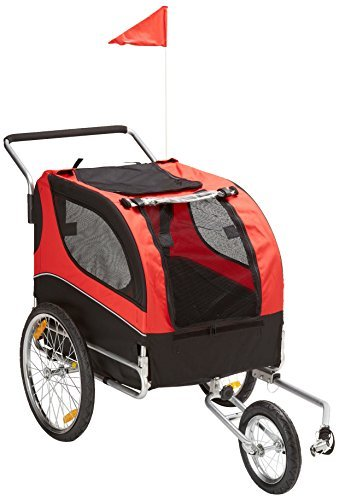 Cheap MDOG2 MK0291 Comfy Pet Bike Trailer/Jogging Stroller, Red/Black