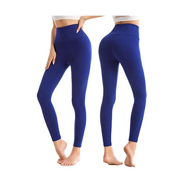 SINOPHANT Legging Femmes Pantalon de Sport, Jegging Taille Haute Femme Yoga Opaque Doux Grande Taille