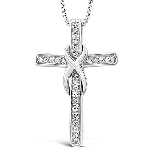 Elegant Diamond Cross Pendant - 6
