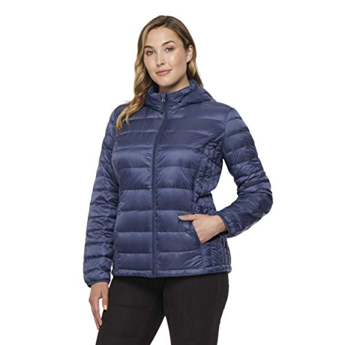 Womens Plus Nano Light Hooded Down Packable Jacket, Old Bay, ()
