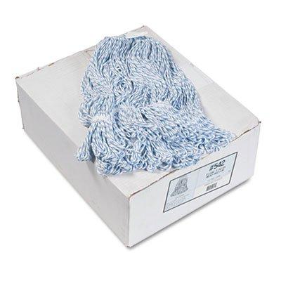 Boardwalk 542CT Mop Head Floor Finish Narrow Rayon/Polyester Medium White/Blue 12/Carton