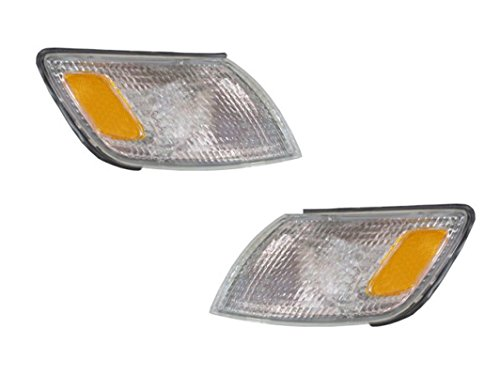 1997-1998-1999 Lexus ES300 ES-300 Corner Park Light Turn Signal Marker Lamp Set Pair Right Passenger AND Left Driver Side (97 98 99)