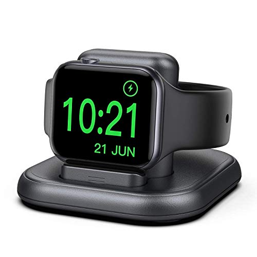cargador inalambrico para apple watch 6/5/4/3/2/1/se gris