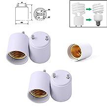 5Pcs GU24 to E27/E26 Adapter LED Light Bulb Lamp Holder Socket Converter Converts Base GU24 to Socket E26 E27