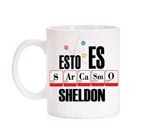 FUNNY CUP Taza Divertida The Big Bang Theory Esto es Sarcasmo Sheldon (Sarcas