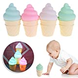 Seaskyer Novelty Ice Cream Cone Shaped Night Light
