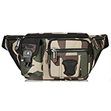 Swiss Army Knife Outdoor Sports Pockets Camouflage Multi-function Running Mobile Phone Bag,Green