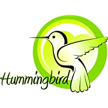 Hummingbird Animal Picture Art - Peel & Stick Vinyl Wall Decal Sticker Size : 8 Inches X 16 Inches - 22 Colors Available