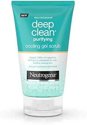 Facial Cleanser: Neutrogena Deep Clean Purifying Cooling Gel Scrub