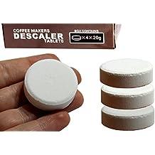 PureBlue Brew - Water Citric Acid Descaler Tablets - Coffee & Espresso Machine Solution - Pots, Single Serve Keurig, Nespresso and MORE (4-Count) by PureBlue Brew