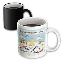 mug_180819_3 Beverly Turner Birthday Design - Happy Birthday American Town with Roads, Homes, Building, and Cars, God Son - Mugs - 11oz Magic Transforming Mug