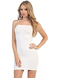 Strapless Stretchy Comfort Mini Sexy Tube Dress (XS/M, M/L,