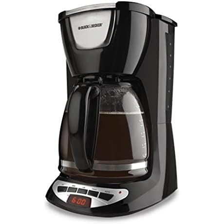 Black Decker DCM100B 12 Cup Programmable Coffeemaker With Glass Carafe Black