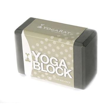 YogaRat Yoga Block, Charcoal, 9 x 6 x 4-Inch