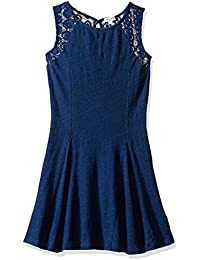 Splendid Girls' Slim Size Indigo Lace Bodice Panel Dress