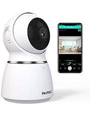 AKASO Cámara IP WiFi 1080P HD Cámara de Seguridad Monitor para Bebé 360° Navegación Panorámica, Auto-Seguimiento de Movimiento, Audio Bidireccional, Visión Nocturna, Almacenamiento en Tarjeta/Cloud