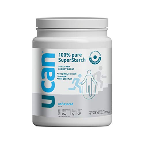 UCAN Keto Energy Powder - Sugar Free Pre Workout Powder for Men & Women with SuperStarch - Non-GMO, Vegan, Gluten Free - Unflavored - 30 Servings