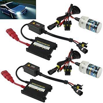 Uniqus 35W 2X H4 Slim HID Xenon Light, High Intensity Discharge Lamp, color Temperature  8000K
