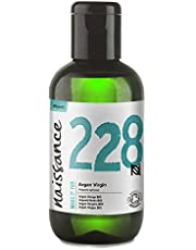 Naissance Organic Moroccan Argan Oil 100ml - Pure and Natural, Certified Organic, Cold-Pressed, Vegan, Hexane Free, No GMO - Natural Moisturiser and Conditioner for Face, Hair, Skin, Beard & Cuticles