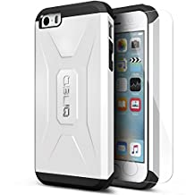iPhone 5C Case, OBLIQ [Xtreme Pro][White] w/ HD Screen Protector - Premium Thin Fit Bumper Armor Scratch Resist Metallic Finish Dual Layered Heavy Duty Hard Protection Case for Apple iPhone 5C