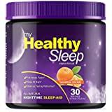 My Healthy Sleep - Natural Sleep Aid, Sleep Supplement Powder - Contains Melatonin, L-Theanine, L-Tryptophan, Vitamin B6, Passion Flower, Ashwagandha Root, Magnolia Bark, and More! 30 Servings