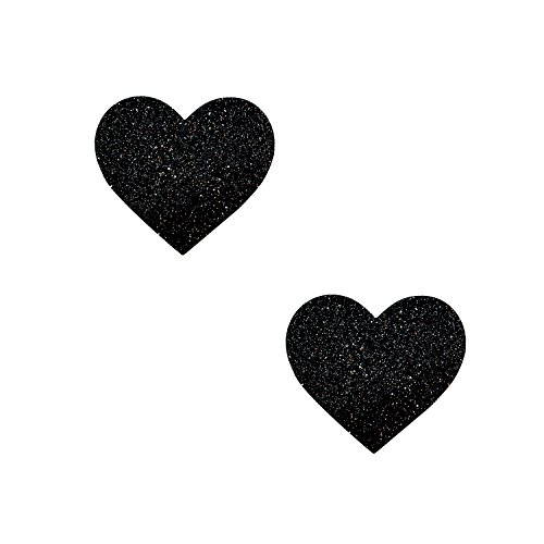 Neva In one's birthday suit Black Malice Glitter I Heart U BodiStix Body Stickers 6PK Small