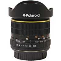 Polaroid Studio Series Ultra Wide Angle 8mm f/3.5 Circular Fisheye Lens For The Nikon D40, D40x, D50, D60, D70, D80, D90, D100, D200, D300, D3, D3S, D700, D3000, D5000, D3100, D3200, D7000, D5100, D4, D800, D800E, D600 Digital SLR Cameras
