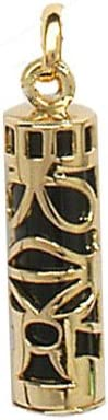 1001 Bijoux Pendentif Tribal Type Tiki plaqu/é Or