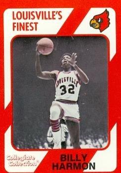 Autograph Warehouse 101715 Billy Harmon Basketball Card Louisville 1989 Collegiate Collection No. - Harmon Warehouse