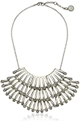 Jessica Simpson Drama Stone Open Necklace, 17''