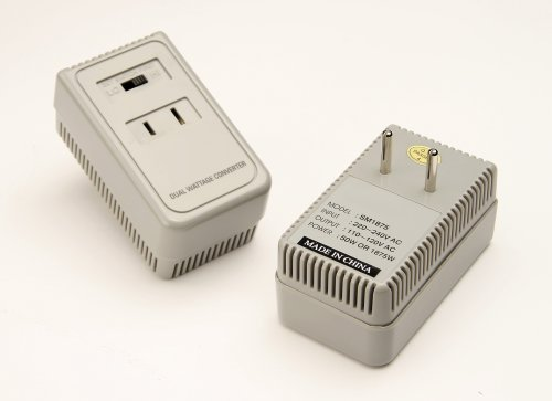 Simran 1875 Watts International Travel Voltage Converter For 110V USA Products In 220V240V Countries. Ideal for Hair Dryers Phone iPod Camera Chargers and Shavers Etc. Model SM-1875