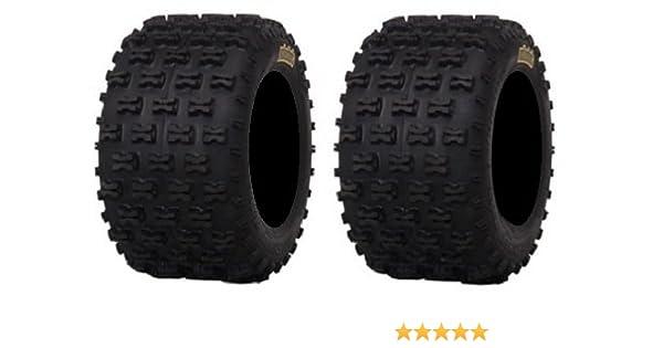 Pair of ITP Holeshot MXR6 ATV Tires Rear 18x10-8 2
