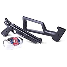 Crosman P1322KTE American Classic Kit - Variable Pump Single-Shot Air Pistol with Shoulder Stock, Pistol Grips