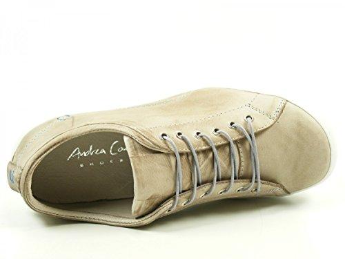 Andrea Conti 0340559 Zapatos de cuero para mujer Beige