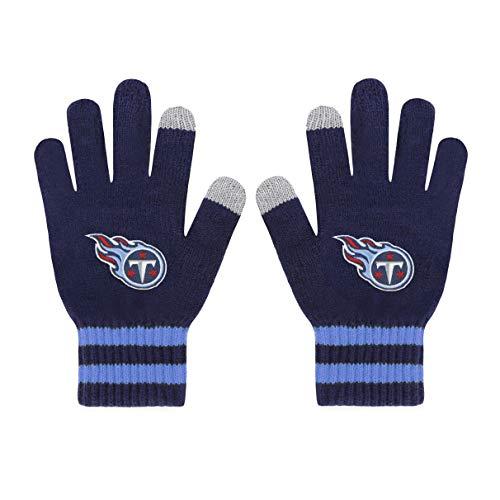 (OTS NFL Tennessee Titans Male Sportsman Touch Gloves, Light Navy, Men's)