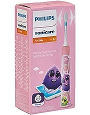 Philips Sonicare For Kids Szczoteczka soniczna HX6352/42, Dzieci myją dłużej, Dla dzieci od 3 r.ż., 2 programy czyszczenia, Aplikacja mobilna, Kolorowe naklejki