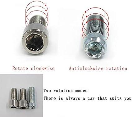 XFC-MTC Farbe : Gold Extend Spiegel Adapter Erweiterung Riser for Suzuki GW250F GW250 GSX-S1000F Rechts Links Bolzen Schraube 10mm M10 Motorradzubeh/ör