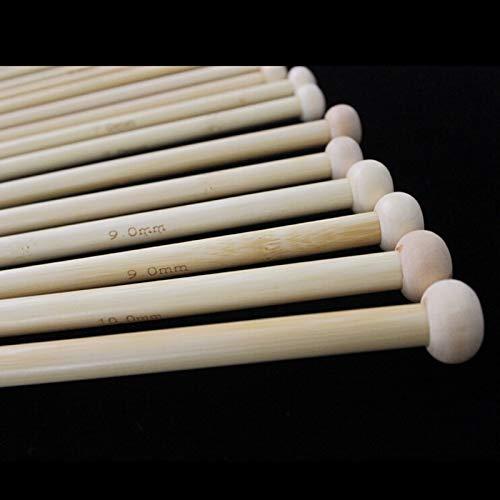 Needles - Phfu Ostart 18 Sizes 14 39 36cm Single Pointed Bamboo Knitting Needles Set Kit 2.0mm 10.0mm - Clover Circular Knitting Case Needles Bamboo