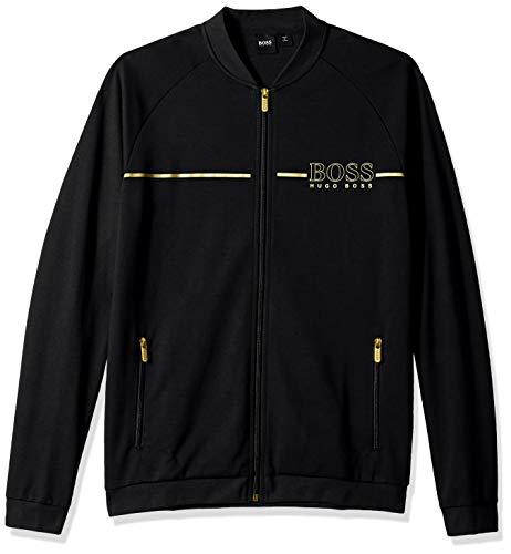 (Hugo Boss BOSS Men's Tracksuit Jacket, Black, L)
