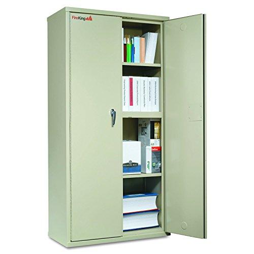 FireKing CF7236D Storage Cabinet, 36w x 19-1/4d x 72h, UL Listed 350°, Parchment by FireKing