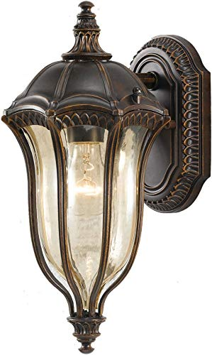 "Feiss One Light Lantern Baton Rouge OL6001WAL Outdoor Wall Sconce-LED Integrated, 15"" Height, Brown from Feiss"