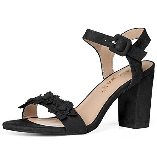 Allegra K Strap Women's Flower Ankle Strap K Sandals B0798F69WD Parent 105240