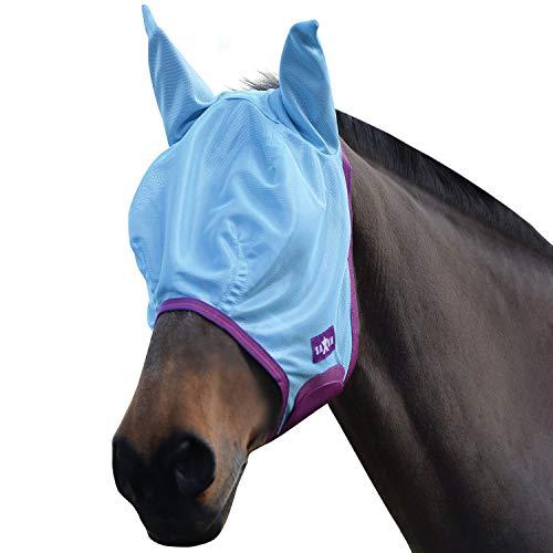 Saxon Horse Blankets - Saxon Mesh Fly Mask Cob Blue/Purple/Rose