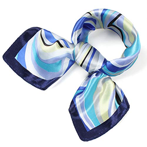 Women's Silk Satin Small Square Scarf Neck Head Hair Ladies Scarf Fashion Scarves Mixed Pattern Print Wraps 60x60cm S004