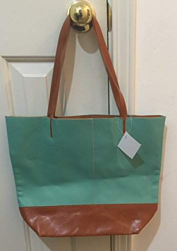 nordstrom-tan-teal-shopping-tote-purse-bag