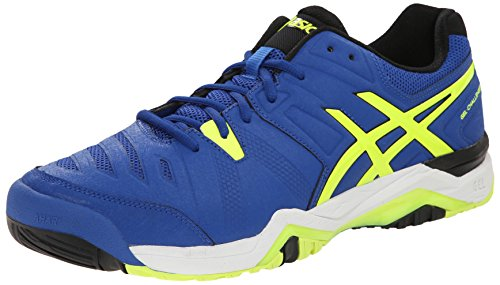 ASICS Men's Gel-Challenger 10 Tennis Shoe Poseidon/White/Safety Yellow 12 M US